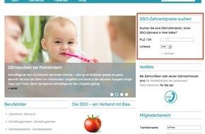 Schweizerische Zahnärzte-Gesellschaft SSO: Mit drei Klicks zum Zahnarzt SSO