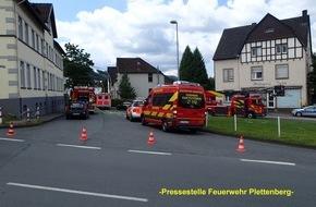 Feuerwehr Plettenberg: FW-PL: OT-Stadtmitte. Gemeldeter Zimmerbrand war verbranntes Essen auf dem Herd.