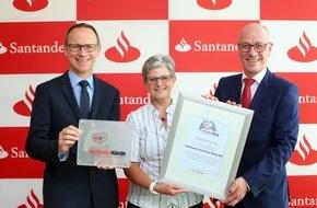 """Santander Consumer Bank AG: Santander erhält für Blutspende-Aktion DRK-Auszeichnung """"Helfende Hände"""""""