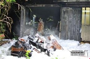 Feuerwehr Iserlohn: FW-MK: Containerbrand drohte auf Firmenhalle überzugreifen