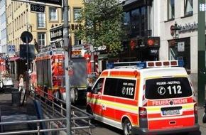Feuerwehr Düsseldorf: FW-D: Rauch im Ladenbereich der U-Bahnstation Heinrich-Heine-Allee