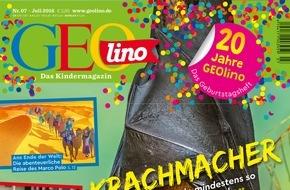 Gruner+Jahr, GEOlino: GEOlino feiert 20. Geburtstag mit Relaunch und neuen Titeln