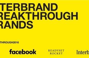 Interbrand: Launch der ersten Interbrand Breakthrough Brands 2016 - vom Startup zur etablierten Marke / Aus Deutschland dabei: mymuesli und Deliveroo