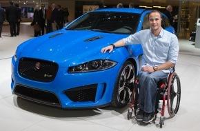 JAGUAR Land Rover Schweiz AG: Le détenteur de multiples records du monde Marcel Hug conduit en Jaguar (Image)