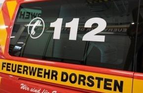 Feuerwehr Dorsten: FW-Dorsten: Wäschetrockner sorgte für einen Kellerbrand in Holsterhausen