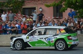 Skoda Auto Deutschland GmbH: SKODA Pilot Kreim feiert gelungene Generalprobe für WM-Start in Deutschland