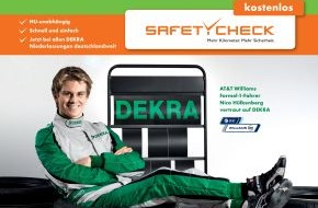 Dekra SE: DEKRA SafetyCheck: 10. Mai bis 26. Juni / Nico Hülkenberg gibt Gas für mehr Sicherheit (mit Bild)