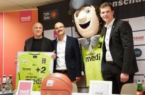 """medi GmbH & Co. KG: """"medi und medi bayreuth gehören zusammen"""" / Basketball-Club und Hauptsponsor feiern Vertragsverlängerung und Sieg"""