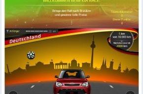 "KIA Motors Deutschland GmbH: Teamplayer gesucht: Kia startet Facebook-Game ""KiArena"""