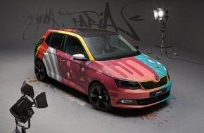 Skoda Auto Deutschland GmbH: SKODA Fabia wird zum ,Art Car' (FOTO)