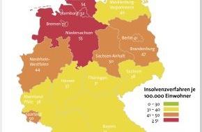 BÜRGEL Wirtschaftsinformationen GmbH & Co. KG: Leichter Anstieg bei den Privatinsolvenzen im 1. Quartal 2013