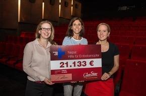 CineStar: CineStar-Mitarbeiter spenden über 20.000 EUR für Erdbebenopfer in Nepal