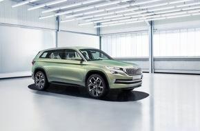 Skoda Auto Deutschland GmbH: SKODA Showcar VisionS feiert Weltpremiere auf der Volkswagen Group Night in Genf