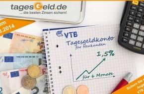 franke-media.net: Aktion bis 3. März: VTB Direktbank erhöht Tagesgeldzins auf 1,50% (FOTO)