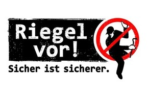 """Polizei Düren: POL-DN: """"Riegel vor! Sicher ist sicherer."""" - Aktionswoche steht bevor"""