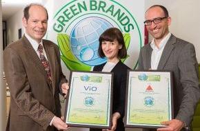 Green Brands: ViO und Apollinaris als GREEN BRANDS Germany ausgezeichnet