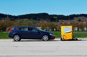 Volvo Car Switzerland AG: L'assistant au freinage d'urgence de Volvo a obtenu les meilleures notes au test comparatif du TCS