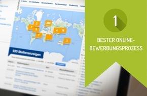 softgarden: softgarden-Kunde Fresenius erneut für bestes Online-Bewerbungsverfahren in Deutschland ausgezeichnet