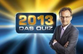 """ARD Das Erste: Das Erste / Frank Plasberg präsentiert """"2013 - Das Quiz"""" / Der Jahresrückblick zum Mitraten und Mitspielen"""