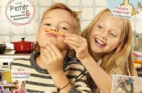 """REWE Markt GmbH: Kindermagazin """"Mampf"""" gibt es gratis im Markt / Mit REWE raten, basteln, spielen und nachhaltige Themen entdecken"""