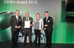 Dekra SE: Safety Champions 2015 ausgezeichnet / DEKRA Award für Spitzenleistungen