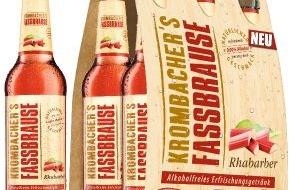 Krombacher Brauerei GmbH & Co.: Von Natur aus erfrischend - KROMBACHER'S FASSBRAUSE Rhabarber jetzt neu auf dem Markt