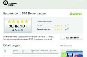 Tiscover GmbH: Buchungskunden hochzufrieden mit Tiscover