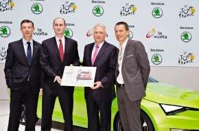 Skoda Auto Deutschland GmbH: SKODA bis 2018 offizieller Partner der Tour de France