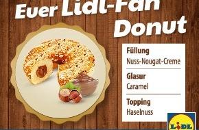 LIDL: Lidl-Fan-Donut geht an den Start / Lidl-Fans kreierten auf Facebook ihren Lieblings-Donut, der ab 8. Dezember 2014 deutschlandweit in den Lidl-Backregalen erhältlich sein wird