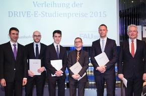 DRIVE-E: Wissenschaftlicher Nachwuchs für die Elektromobilität mit DRIVE-E-Studienpreisen 2015 ausgezeichnet / BMBF und Fraunhofer-Gesellschaft prämieren herausragende studentische Arbeiten