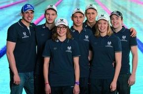 DVAG Deutsche Vermögensberatung AG: Förderung von jungen Talenten im Schwimmen: DVAG-Juniorteam begrüßt fünf neue Mitglieder