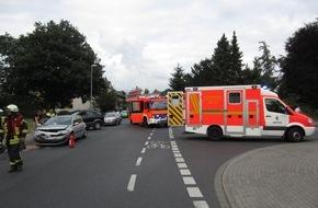 Feuerwehr Mülheim an der Ruhr: FW-MH: Verkehrsunfall mit mehreren Verletzten