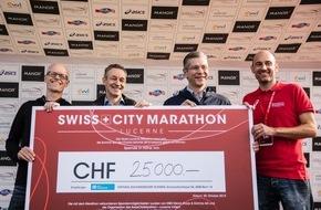 MSD Merck Sharp & Dohme AG: MSD: Engagiert für die Gesundheit am SwissCityMarathon Lucerne:  25'000 Franken für einen guten Zweck