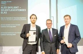 """LightGlass Technology GmbH: Wiener Technologieunternehmen LightGlass mit Iconic Award 2015 als """"Best of Best"""" ausgezeichnet"""