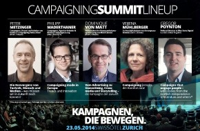 Campaigning Summit: Greenpeace, von Matt und Schottlands Unabhängigkeitsbewegung auf der Bühne am Campaigning Summit Zurich 2014