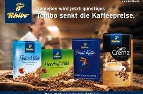 Tchibo GmbH: Tchibo senkt die Kaffeepreise