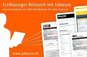 Jobware Online-Service GmbH: Stellenmarkt-Relaunch mit Jobware / Karrierenetzwerk von W&V Job-Network mit mehr Features