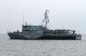 """Presse- und Informationszentrum Marine: Minenjagdboot """"Weilheim"""" kehrt nach Einsatz unter NATO- und EU-Kommando zurück"""