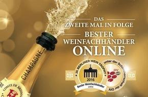 """LIDL: Lidl ist zum zweiten Mal in Folge """"Bester Weinfachhändler Online"""" / Berliner Wein Trophy prämiert 175 von Lidl eingereichte Weine"""