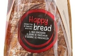 """Migros-Genossenschafts-Bund: Migros: """"Happy bread"""", das erste langhaltbare Frischbrot ohne Konservierungsstoffe"""