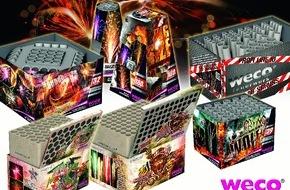 WECO Pyrotechnische Fabrik GmbH: Silvesterfeuerwerk: Profi-Batterien im Trend / Neben vielen Produktinnovationen stellt Marktführer WECO Feuerwerk zum Jahreswechsel seine Pyromould-Batterie-Serie vor