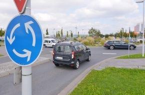 HUK-Coburg: Tipps für den Alltag: Fahrverhalten dem Kreisel anpassen / Geschwindigkeit im Kreisel muss zum Kurvenradius passen - 50 Stundenkilometer können zu schnell sein