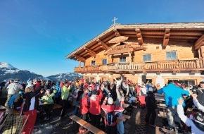 SkiWelt Wilder Kaiser-Brixental Marketing GmbH: Hütten-Gaudi-Wochen in der SkiWelt mit Skiguides, Livemusik und guter Stimmung