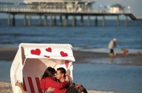 Tourismusverband Mecklenburg-Vorpommern: Herz-Strandkorb zum Valentinstag