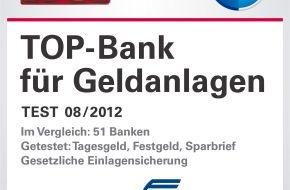 """VTB Direktbank: VTB Direktbank als """"TOP-Bank für Geldanlagen"""" ausgezeichnet"""