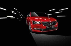 Skoda Auto Deutschland GmbH: Rassiges Topmodell: SKODA SUPERB SportLine ab sofort bestellbar