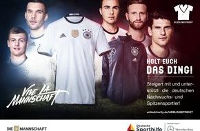 Stiftung Deutsche Sporthilfe: #Lieblingstrikot: Auktion von Fußball-Nationalmannschaft und Mercedes-Benz zugunsten der Deutschen Sporthilfe