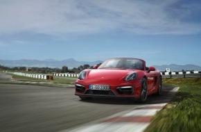 Porsche Schweiz AG: Nouveau duo athlétique affichant des performances améliorées: Boxster GTS et Cayman GTS / Top-modèles parmi les sportives à moteur central, dotées d'une propulsion puissante et d'un châssis adaptatif