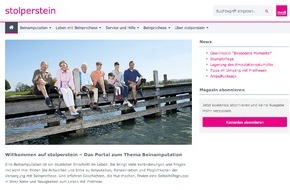 medi GmbH & Co. KG: Neues Informationsportal für Beinamputierte / Frischer Wind auf www.stolperstein.com (FOTO)