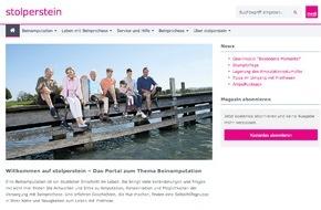 medi GmbH & Co. KG: Neues Informationsportal für Beinamputierte / Frischer Wind auf www.stolperstein.com